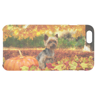 Fall Thanksgiving - Tucker - Yorkie Clear iPhone 6 Plus Case