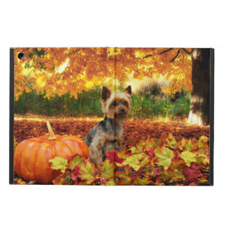 Fall Thanksgiving - Tucker - Yorkie Cover For iPad Air