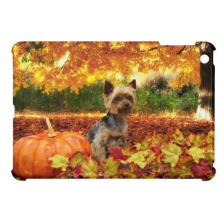 Fall Thanksgiving - Tucker - Yorkie iPad Mini Covers