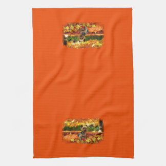 Fall Thanksgiving - Tucker - Yorkie Kitchen Towel