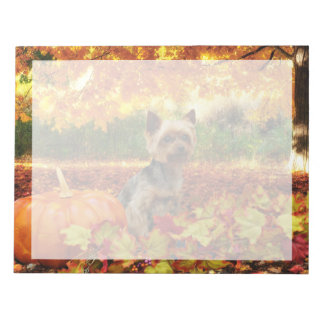 Fall Thanksgiving - Tucker - Yorkie Notepad
