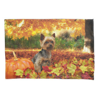 Fall Thanksgiving - Tucker - Yorkie Pillowcase