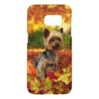 Fall Thanksgiving - Tucker - Yorkie Samsung Galaxy S7 Case