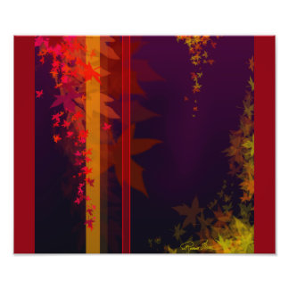 Fall. The brightly colored leaves of Fall. Photo Print