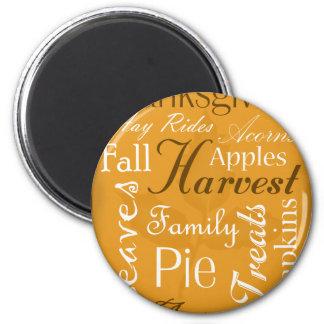 Fall Theme Magnet - Autumn Word Art