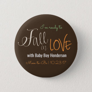 Fall Themed Baby Shower Button for New Mom