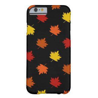 Fall-Themed Case - Polka Maple Leaves, Black