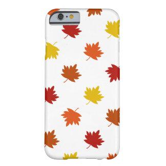 Fall-Themed Case - Polka Maple Leaves, White