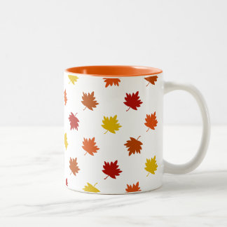 Fall-Themed Mug - Polka Maple Leaves