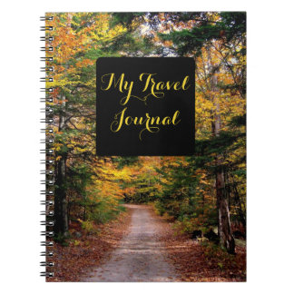 Fall Themed Scenic Travel Journal Notebook