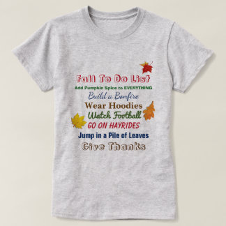 Fall To Do List Women's T-Shirt