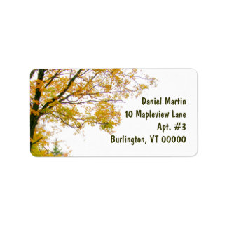 Fall Tree Address Label, Large