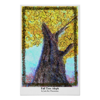 Fall Tree Aleph Poster