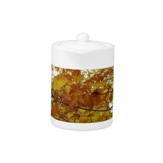 Fall Tree Leaves Teapot