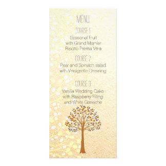 fall tree, Rustic Wedding menu Personalized Rack Card