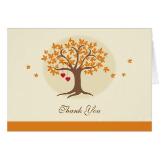 Fall Tree Thank You Card