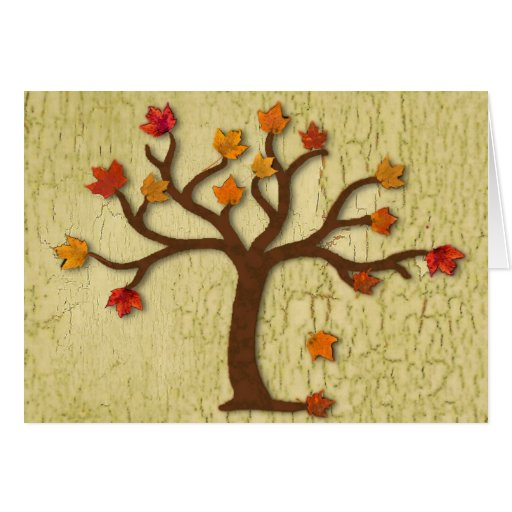 Fall Tree Thanksgiving Card
