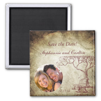 Fall Tree Wedding Announcement Magnet