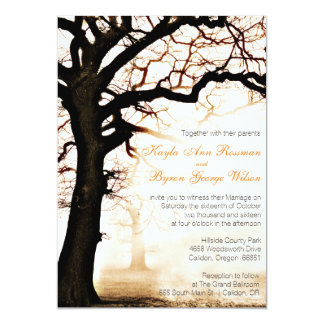 Fall Tree Wedding Invitation
