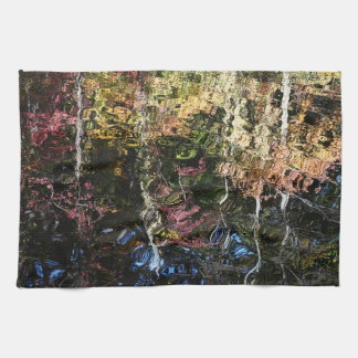 Fall Trees Reflected in Water Kitchen Towel