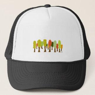 Fall trees trucker hat