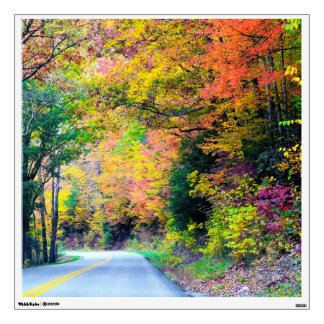 Fall Trip Road Photography 2 Wall Sticker