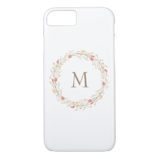 Fall Twig Wreath Monogram Phone Case