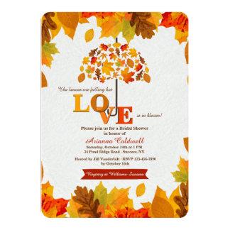 Fall Umbrella Bridal Shower Invitation