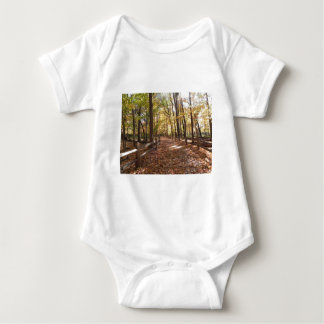 Fall walk in the park and changing colors baby bodysuit