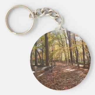 Fall walk in the park and changing colors keychain