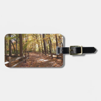Fall walk in the park and changing colors luggage tag