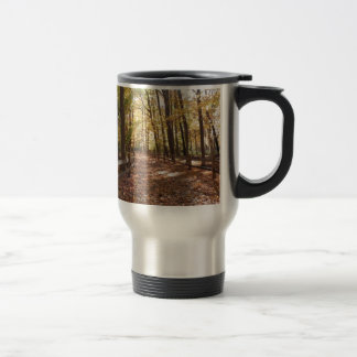 Fall walk in the park and changing colors travel mug