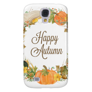 fall watercolor gourd and pumpkin wreath