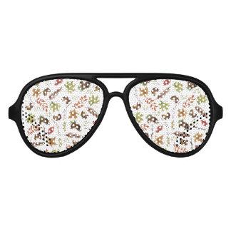 fall watercolor wreath aviator sunglasses
