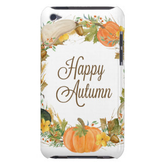 fall watercolor wreath barely there iPod covers