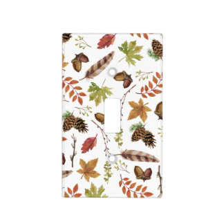 fall watercolor wreath light switch cover