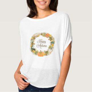 fall watercolor wreath T-Shirt