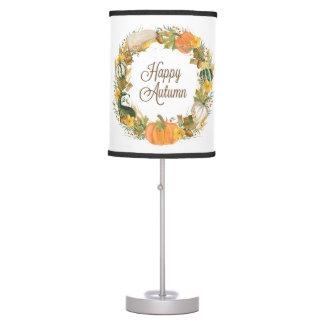fall watercolor wreath table lamp