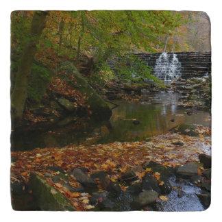 Fall Waterfall and Creek Pennsylvania Nature Photo Trivet