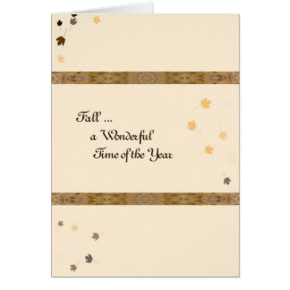 Fall Wedding Anniversary for Husband Card