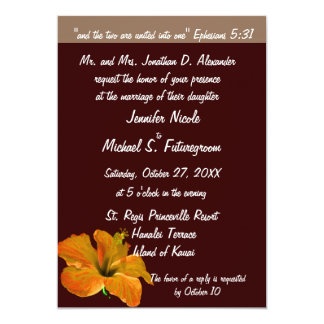 Fall Wedding Autumn Colors : Two Become One Card