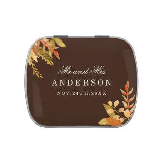 Fall Wedding Candy Tin Favors