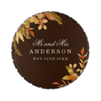 Fall Wedding Candy Tin Favors