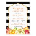 Fall Wedding Celebration | Autumn Pumpkins Leaves Card