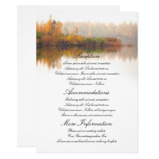 Fall Wedding Details Card