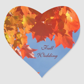 Fall Wedding envelope seals stickers Blue Sky