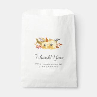 Fall Wedding Favor Bags (50)