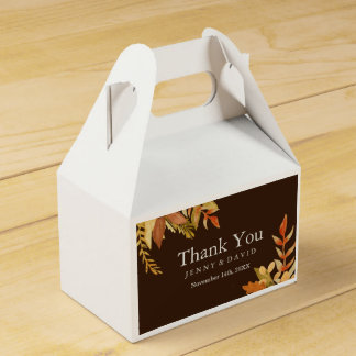 Fall Wedding Favour Box Wedding Favor Boxes