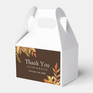 Fall Wedding Favour Box Wedding Favor Boxes