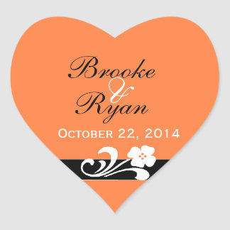 Fall Wedding Heart Sticker